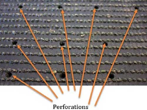 Perforations-for-artificial-grass